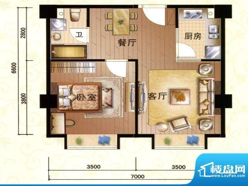 柏宝大厦01-04,14房面积:68.56m平米