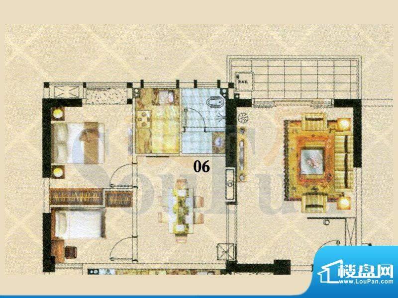 富逸时代2-28层06号面积:94.55m平米
