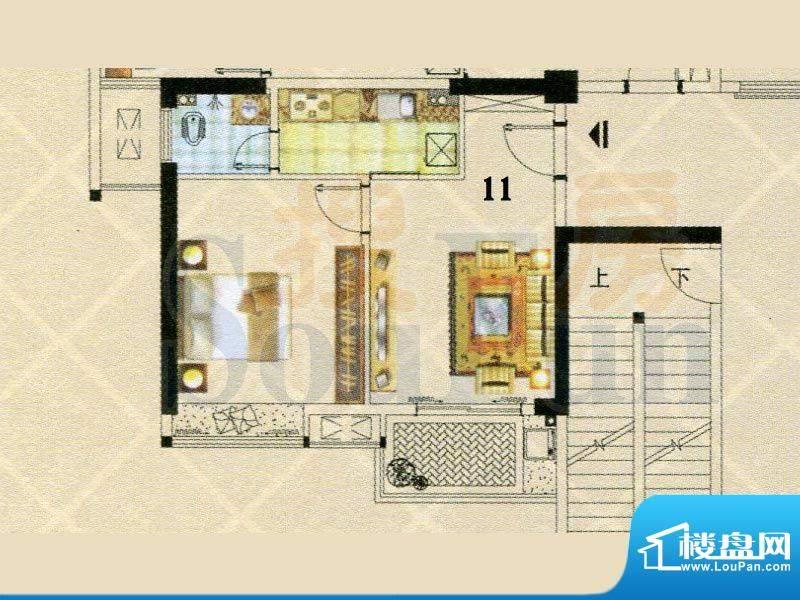 富逸时代2-28层11号面积:62.02m平米