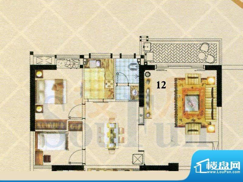 富逸时代2-28层12号面积:95.64m平米