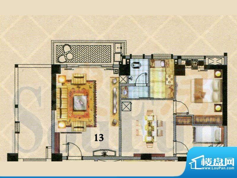 富逸时代2-7层13号户面积:95.76m平米