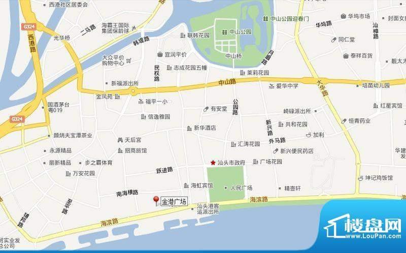 金港广场交通图