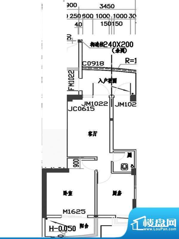 红荔园二期33栋四-十面积:64.31m平米