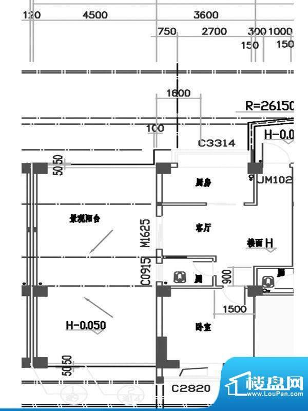 红荔园二期33栋四-十面积:64.34m平米
