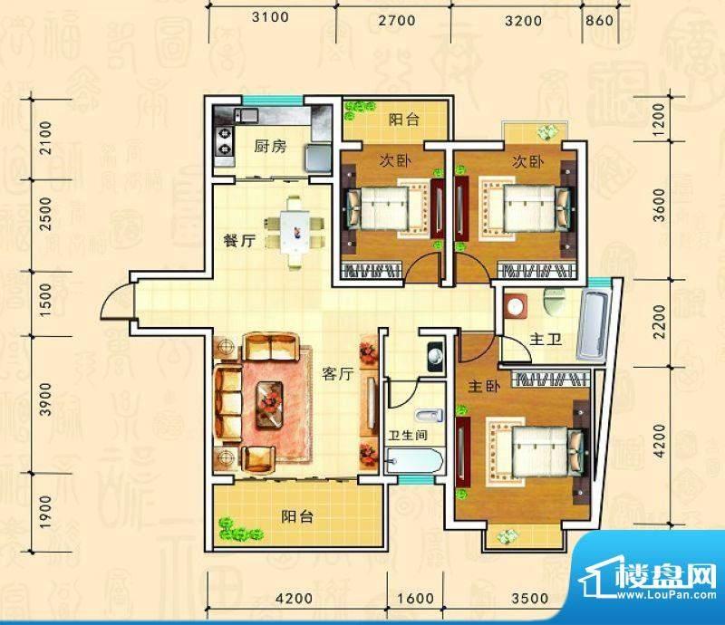 金源新城福邸嘉园25面积:116.30m平米