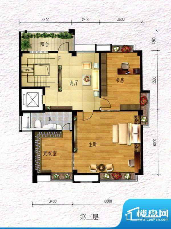 锦阳雅轩别墅1幢三层面积:557.69m平米