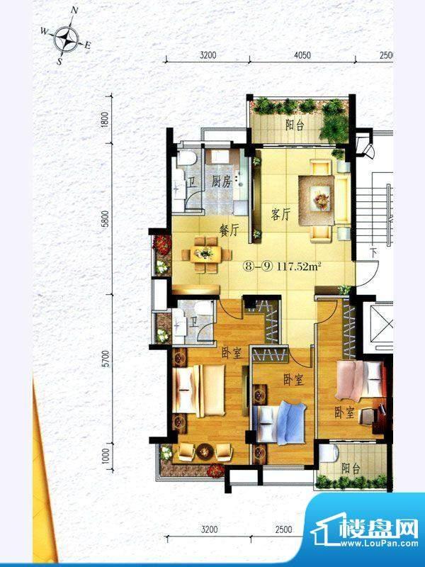 锦阳雅轩2幢标准层0面积:117.52m平米