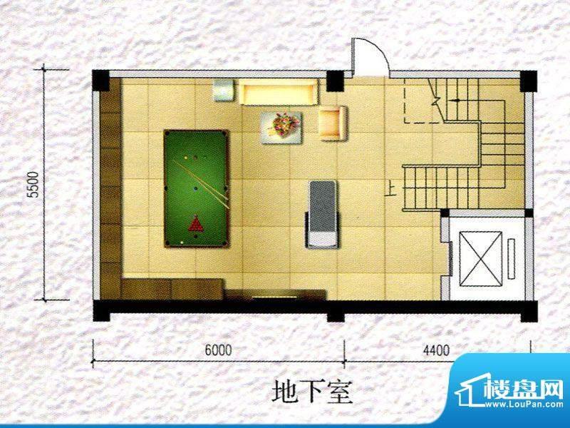 锦阳雅轩别墅1幢地下面积:557.69m平米