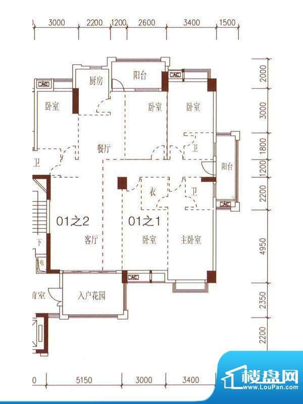 嘉盛·罗浮宫5幢3-1面积:0.00m平米