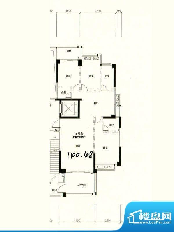 星湖城11幢标准层05面积:140.48m平米