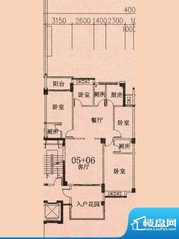 天华美地19#2-14层0面积:142.70m平米