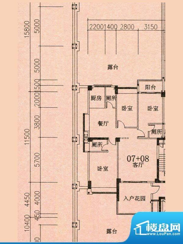 天华美地19#2-14层0面积:140.26m平米