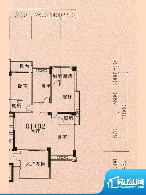 天华美地18#2-14层0面积:140.15m平米
