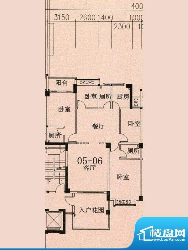 天华美地18#2-14层0面积:142.70m平米