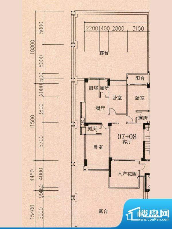 天华美地18#2-14层0面积:140.27m平米