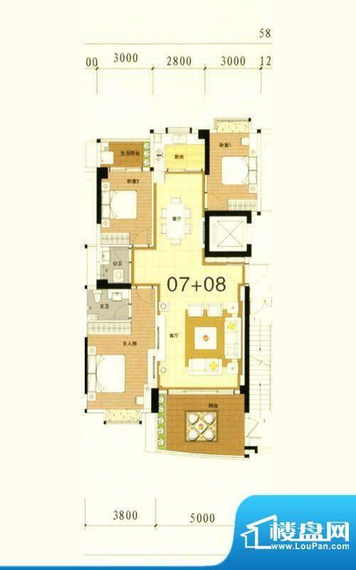 万豪南湾5幢标准层0面积:151.27m平米