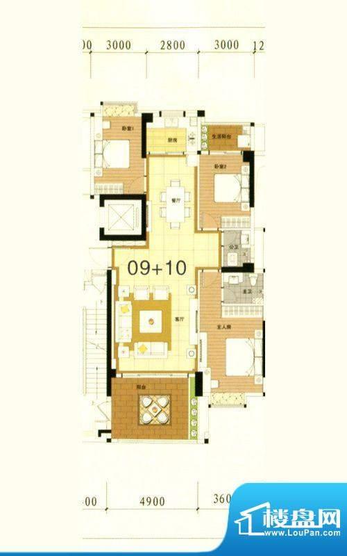 万豪南湾5幢标准层0面积:148.91m平米