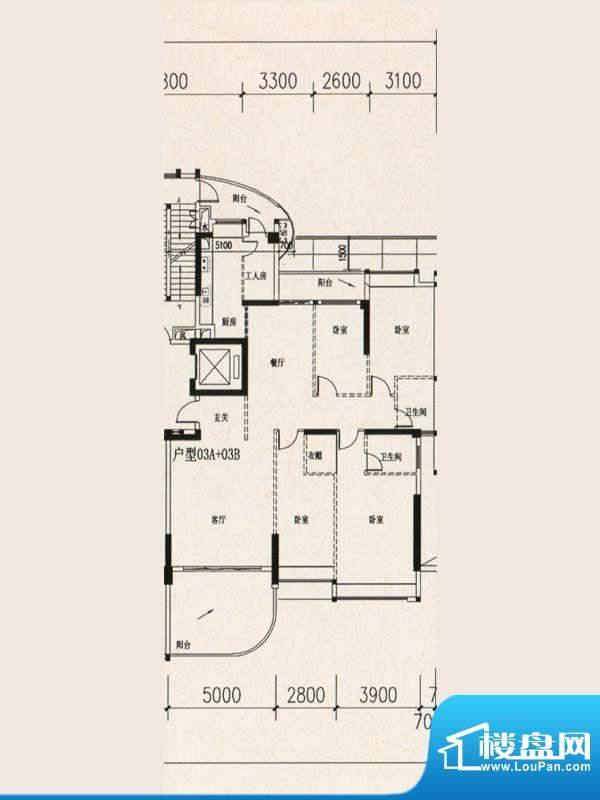 群星华庭2幢2-28层0面积:193.11m平米