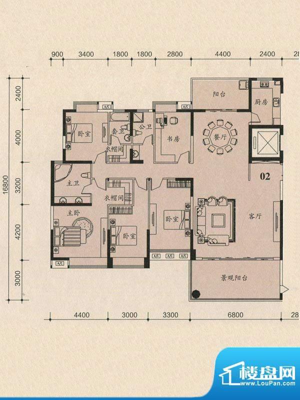 茵悦豪苑5幢2-27标准面积:239.30m平米