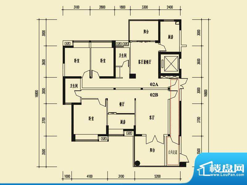 茵悦豪苑6幢2-27标准面积:181.04m平米