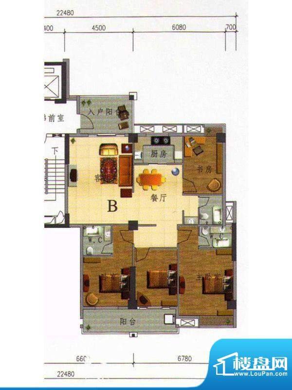 虹璟湾东区1幢标准层面积:150.00m平米
