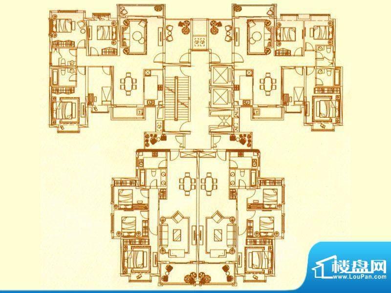 尚海阳光玲珑墅Bb户面积:130.00m平米