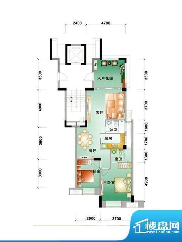 中信华庭1栋303号房面积:97.00m平米