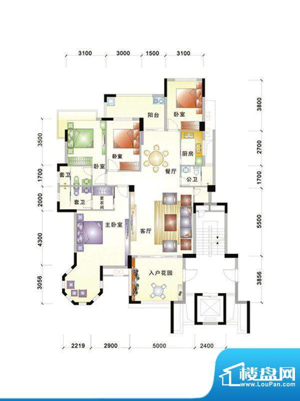 中信华庭2栋304号房面积:165.00m平米