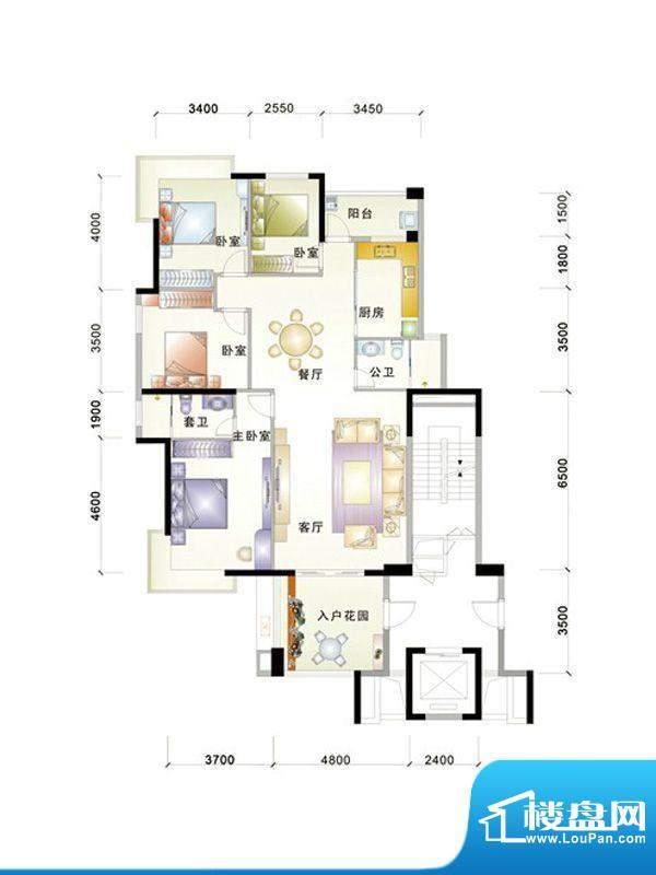 中信华庭5栋606号房面积:155.00m平米