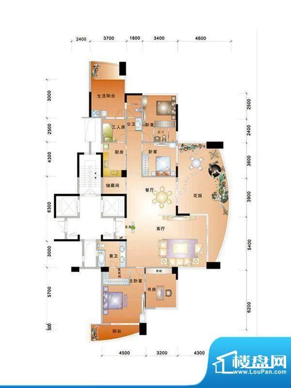 中信华庭8栋601号房面积:240.00m平米