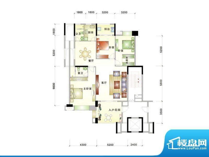 中信华庭31栋604号房面积:145.00m平米