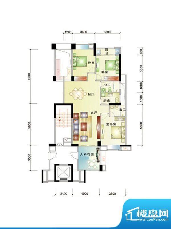 中信华庭37栋607号房面积:130.00m平米