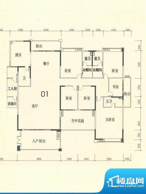 裕通花园西区13幢标面积:446.00m平米