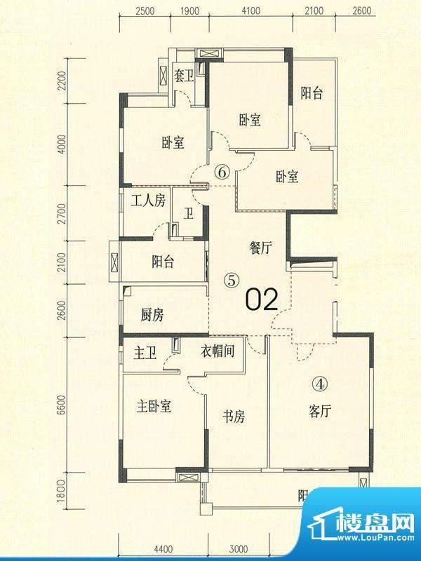 裕通花园西区14幢标面积:238.00m平米
