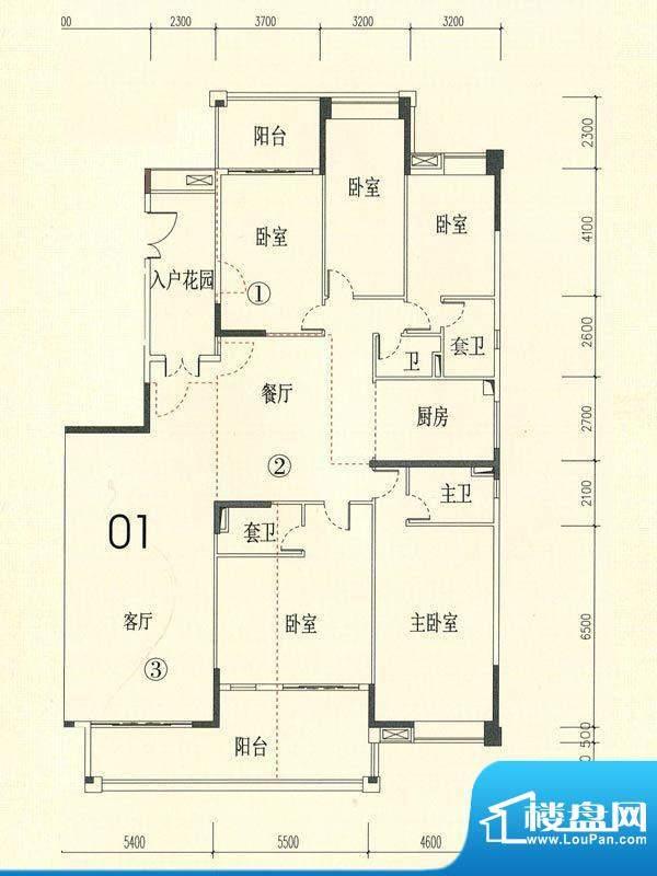 裕通花园西区15幢标面积:292.00m平米