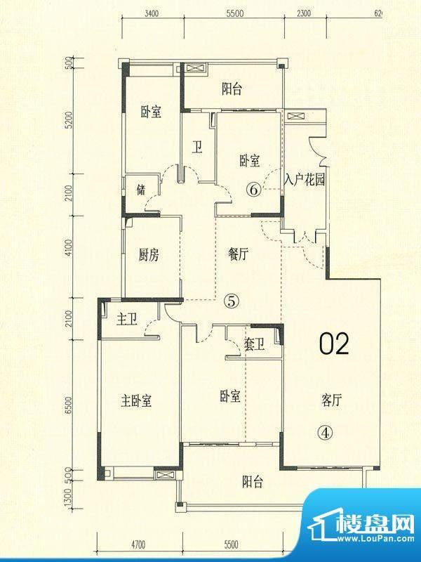 裕通花园西区15幢标面积:284.00m平米