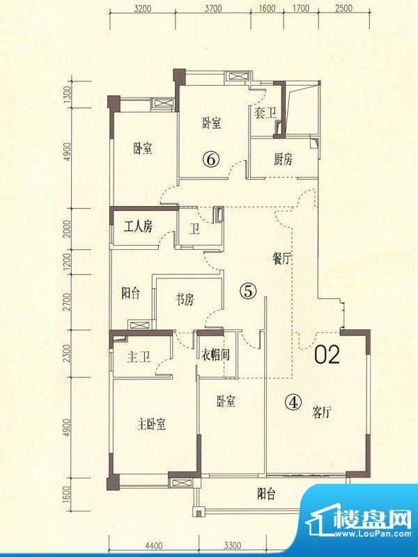 裕通花园西区24幢标面积:239.00m平米