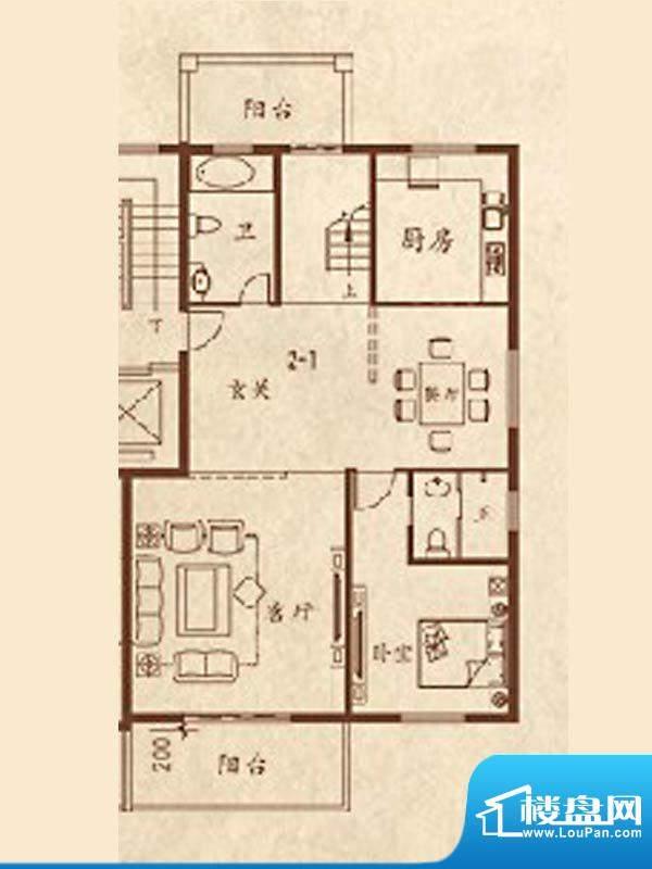 海湾尚景叠加别墅3F面积:0.00m平米