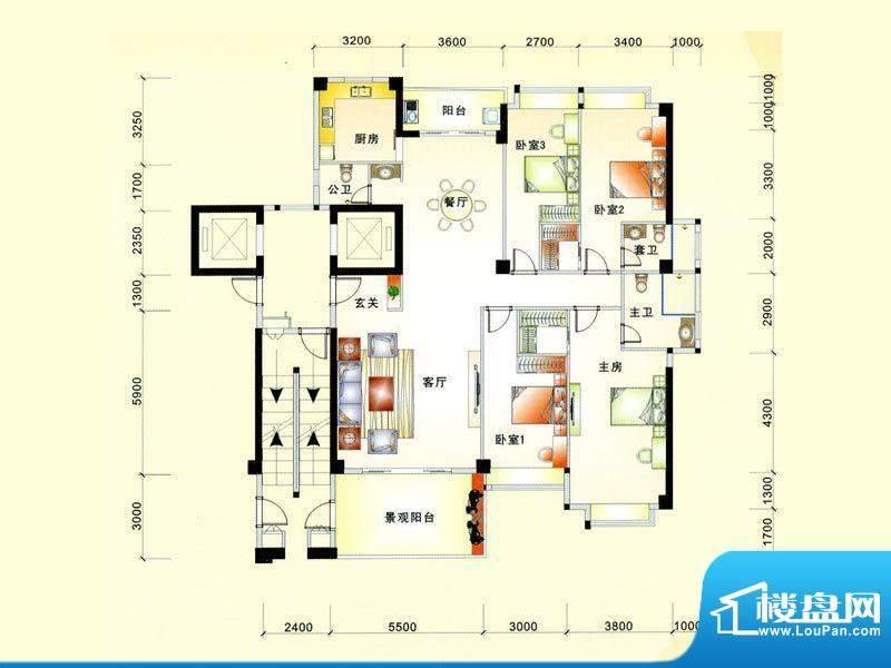 帝豪花园二期2幢01、面积:207.00m平米