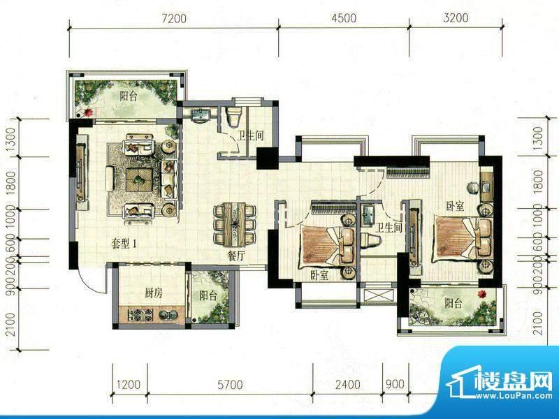 南海阁·海滨大厦01面积:99.59m平米