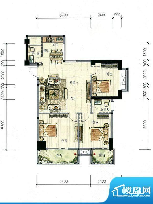 南海阁·海滨大厦02面积:113.19m平米