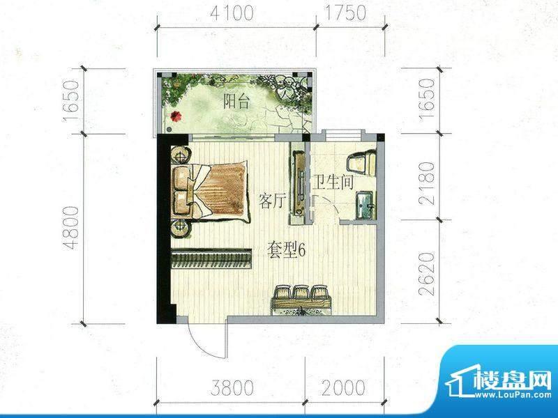 南海阁·海滨大厦05面积:46.07m平米