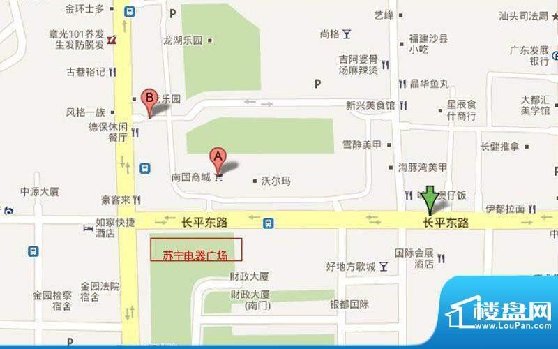 苏宁电器广场交通图