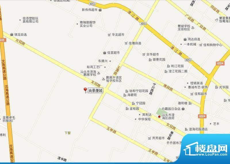 尚景康城交通图