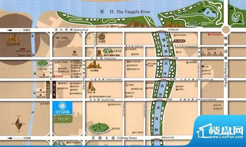 时代新城交通图