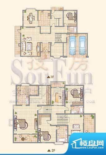 龙城福第B户型 5室3面积:370.00平米