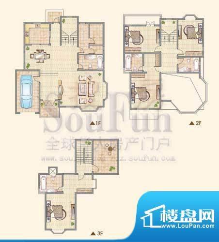 龙城福第C户型 4室2面积:316.00平米
