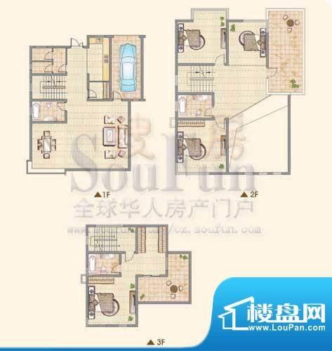 龙城福第D户型 4室2面积:278.00平米