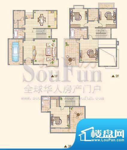 龙城福第E户型 4室2面积:298.00平米