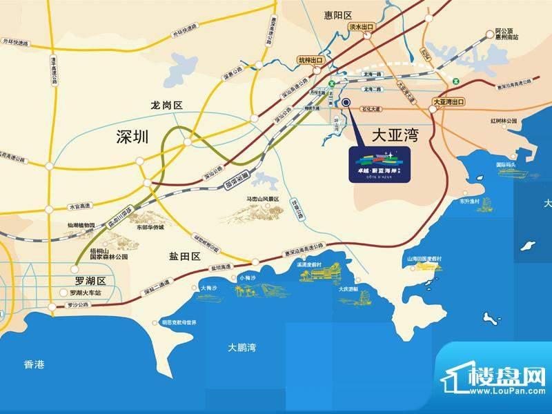 卓越东部蔚蓝海岸交通图